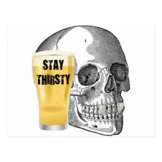 STAY THIRSTY - VAMPIRE SKULL PRINT POSTCARD