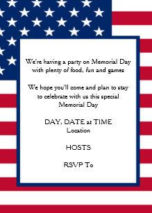 memorial day celebration invitations zazzle