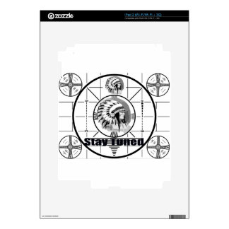 Stay Tuned with Indain Head Test Pattern Decals For iPad 2