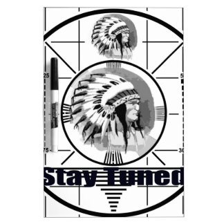 Stay Tuned with Indain Head Test Pattern Dry Erase Board
