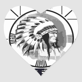 Stay Tuned with Indain Head Test Pattern Heart Sticker