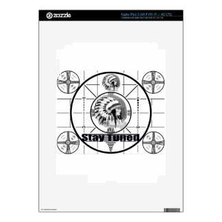 Stay Tuned with Indain Head Test Pattern iPad 3 Decal