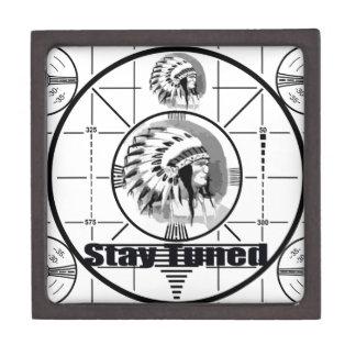 Stay Tuned with Indain Head Test Pattern Keepsake Box