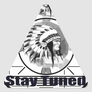 Stay Tuned with Indain Head Test Pattern Triangle Sticker