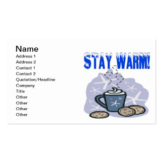 Stay Warm 4 Double-Sided Standard Business Cards (Pack Of 100)