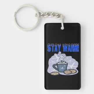 Stay Warm 4 Double-Sided Rectangular Acrylic Keychain