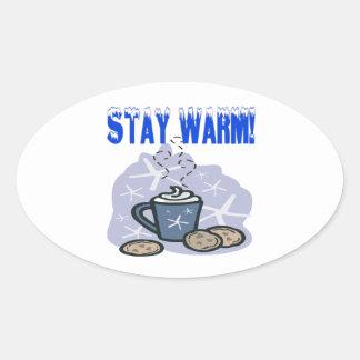 Stay Warm 4 Oval Sticker