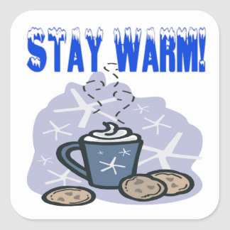 Stay Warm 4 Square Sticker