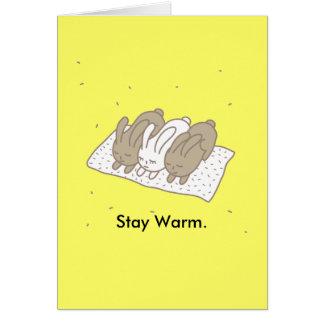 Stay warm greeting card