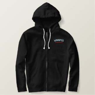 Stay Warm in Winnipeg Embroidered Hoodie
