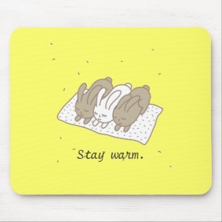 Stay warm mouse pad