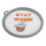 Stay Warm Oval Belt Buckles