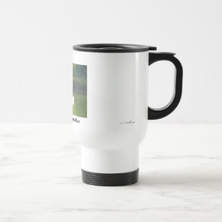 Stay warm while fishing travel mug