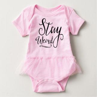 Stay Weird Baby Bodysuit