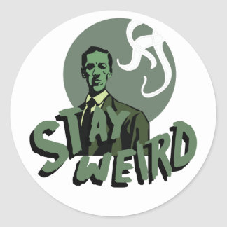 Stay Weird Classic Round Sticker