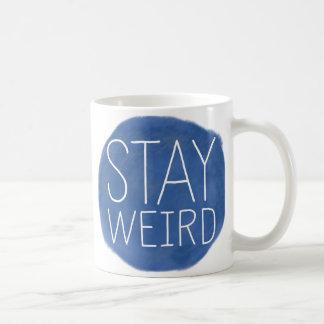 Stay Weird Classic White Coffee Mug