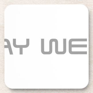 stay-weird-saved-gray png beverage coaster