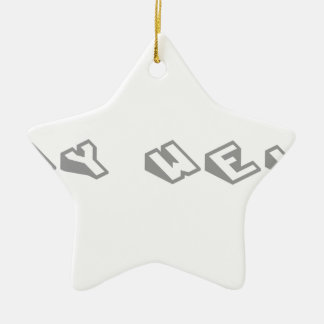 stay-weird-sl-gray.png christmas tree ornament