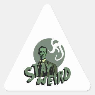 Stay Weird Triangle Sticker