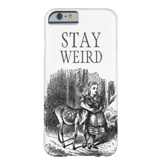 Stay weird vintage Alice in Wonderland deer Barely There iPhone 6 Case