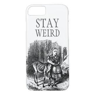 Stay weird vintage Alice in Wonderland deer iPhone 7 Case