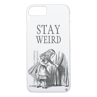 Stay weird vintage Alice in Wonderland door iPhone 7 Case