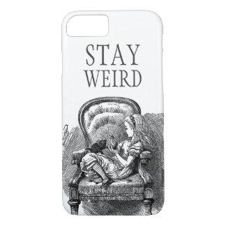 Stay weird vintage Alice in Wonderland kitten cat iPhone 7 Case