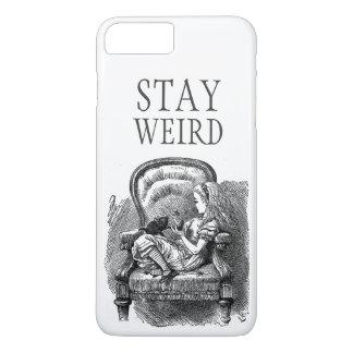 Stay weird vintage Alice in Wonderland kitten cat iPhone 7 Plus Case