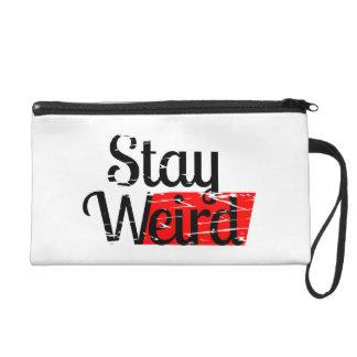 Stay Weird Wristlet