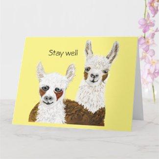 Stay Well Greeting with Mama Llama Card