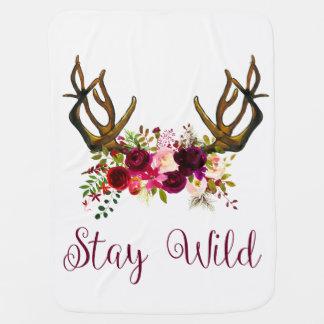 Stay Wild Boho Baby Blanket