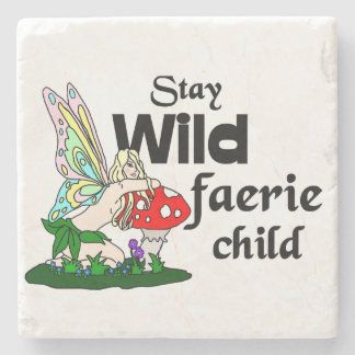 Stay Wild Faerie Child Faerie And Mushroom Coaster