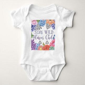 Stay Wild Flower Child - Boho Florals Baby Bodysuit