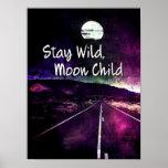 purple, night, moon, mountains, road, stay, wild,