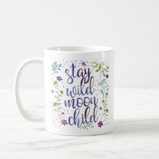 Stay Wild Moon Child Watercolor Mug