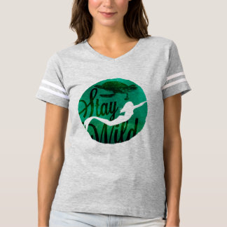 """Stay Wild"" with Mermaid and Sea Turtle T-shirt"