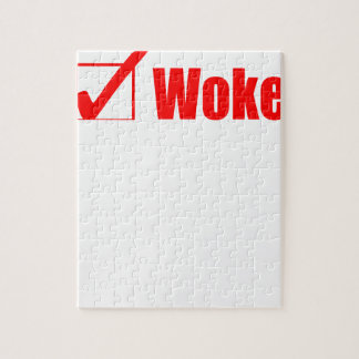 Stay Woke Check Post Jigsaw Puzzle