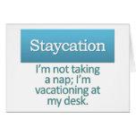 Staycation Tarjeta