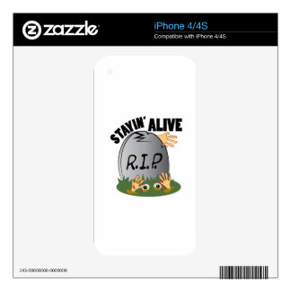 Stayin Alive iPhone 4 Decal