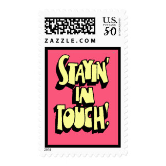 Stayin' In Touch Stamp in Dark Pink