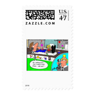 Staying Afloat In Economy Funny Gifts & Collectibl Postage
