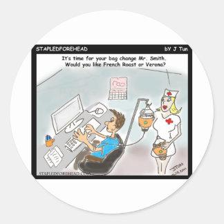 Staying Awake at Work Classic Round Sticker