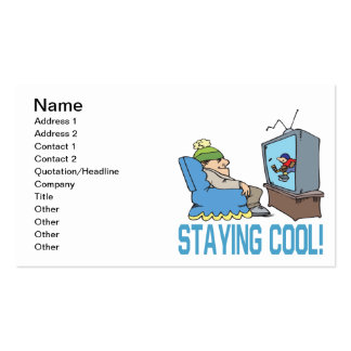 Staying Cool Business Card