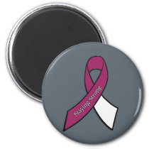 Staying Strong, Head, Neck and Throat Cancer 2 Inch Round Magnet