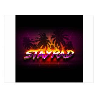 StayRad 80s Postcard