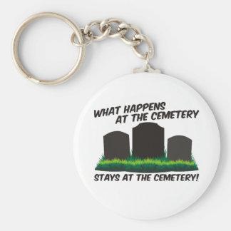 Stays At Cemetery Basic Round Button Keychain