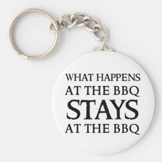 STAYS AT THE BBQ KEYCHAIN