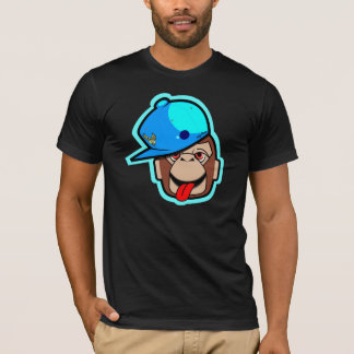 stays Happy cool and cute apes in dark shirt