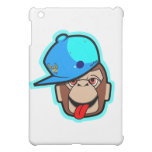 stays Happy cute cool blue cap apes iPad Mini Cover
