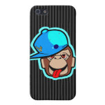 stays Happy cute cool blue cap apes Covers For iPhone 5